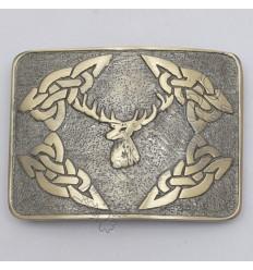 Stage Celtic Brass Antique Kilt Belt Buckle