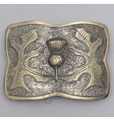 Scotland Flower Leaf Brass Antique Kilt Belt Buckle