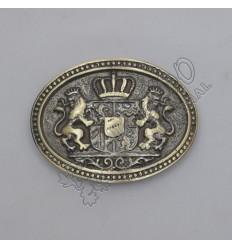 Rampart Lion with Crown Brass Antique Kilt Belt Buckle
