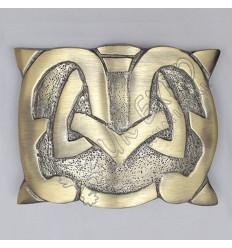 Scottish Love Heart Brass Antique Kilt Belt Buckle