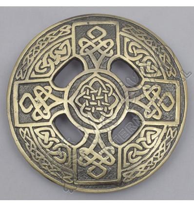 Celtic Knot Brass Antique Brooch