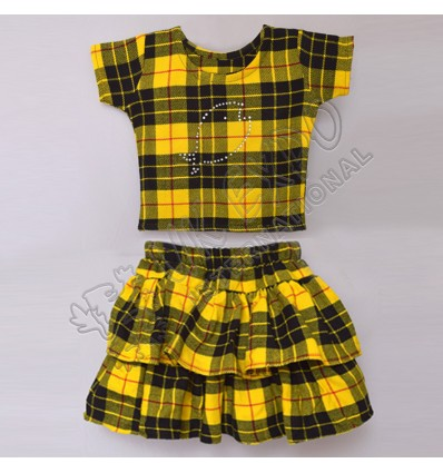 Girls Macleod Dress Tartan Shirt And Skirt For 3 Year Old