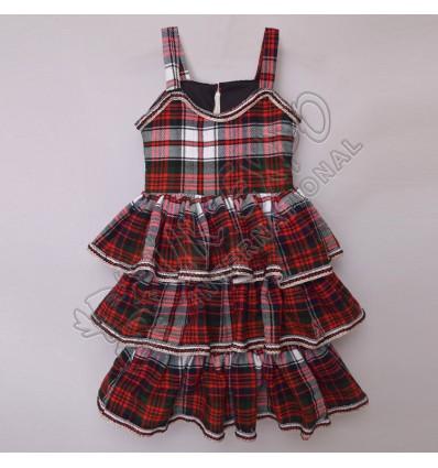 Girls MacDonald Dress Tartan Sleeveless Full Skirt For 4 Year Old