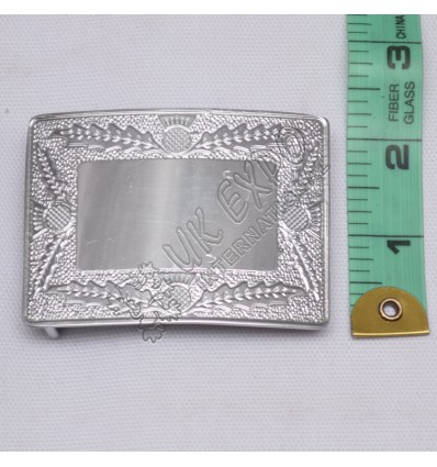 Scottish Flower Mirror Finish Baby Buckle