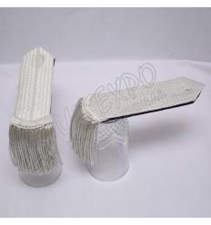 Silver bullion wire Braid Special Shoulders/Epaulette