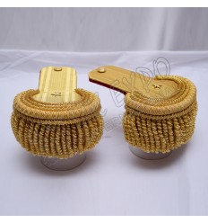 Gold Bullion Shoulders/Epaulette Pair Bullion Frings