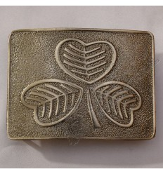 New Quality Shamrock Bronze Buckle mega Finish