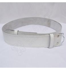 Kilt Waist Belt White Leather