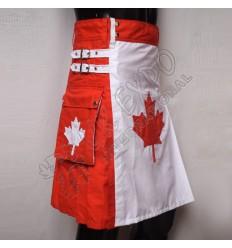 Canadian Maple Flag Hybrid Utility Kilt