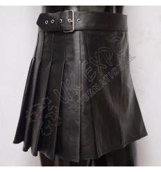 Black Leather ladies Utility Kilt