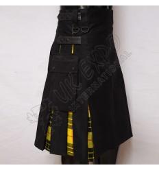 Hybrid Decent Macleod Dress Tartan Box Pleat Utility Kilt Attached pockets