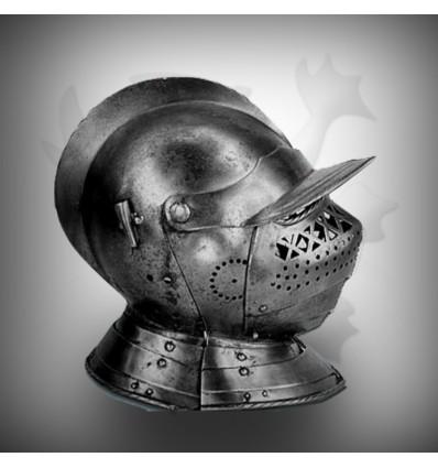 Fine Silver Medieval Head Armor Helmet