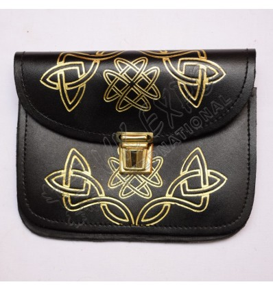 Celtic Pouch with Gold Embossing for Piper Drummer