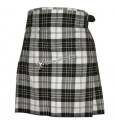 5 Yards Black White Tartan Deep Pleats and box kilts