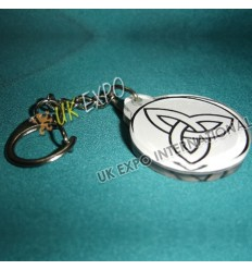 Harp Double Side Printed Key Chain