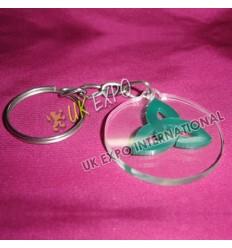 Trinity Knot Plastic Key Chain