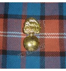 German CivGold Metal Gernadeil War Brass Hat Badges