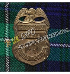 Pinkerton 53474 Security Service Metal Badge