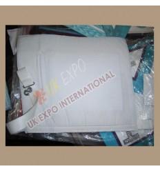 Masonic Bag White Leather Plain