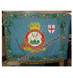 SQUADRON AIR TRAINING CORPS 1475 WITH BORDER large flag Hand Embroidery and Gold Fringe
