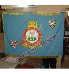 SQUADRON AIR TRAINING CORPS 1475 Large Flag Hand Embroidery with Gold Fringes