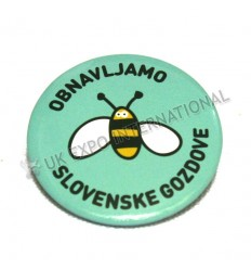 OBNAVLJAMO SLOVENSKE GOZDOVE Button Pin