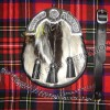 Artificial Multi Color Fur with leather Tessels with Celtic Badge center of cantle