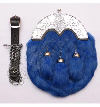 Rabbit Fur With Blue Color