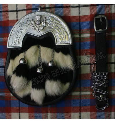 Black and white fur with Celtic cantle