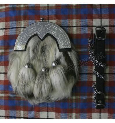 Artificial Fox hair cross tassels Sporran