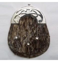 Mens Scottish Kilt Sporran Seal Skin Celtic Cantle Seal Skin Kilt Sporran Celtic