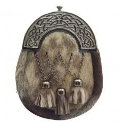 Full Dress Kilt Sporran Formal Seal Skin Celtic Cantle Antique Kilt Sporrans