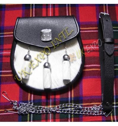 Drum Major Badge Goat Skin Leather Sporran
