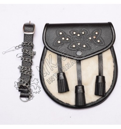 Artificial Whtie Skin Embossed Leather