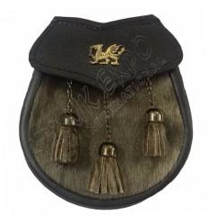 Semi Dress Seal Skin Welsh Dragon Antique Kilt Sporran