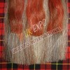 Brown , Dark Gray Orignal Horse Hair sporran with Red and Brown tessels with Nice Cantle