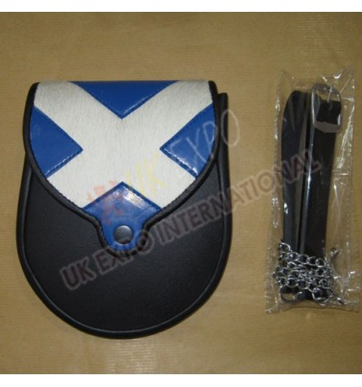 Scottish Flag sporran with New Style