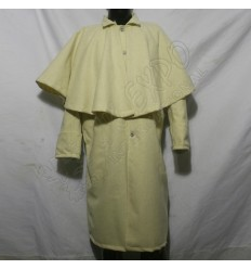 Cream Color Foot Pattern Greatcoat