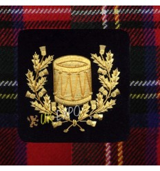 Pipe Major Insignia Black with Silver