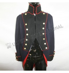 Napoleonic British French Jacket Dark blue with Black Front
