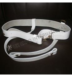 70s Bayonet Sling White cross belt