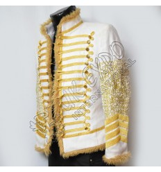 Hunkydory Beaufort white cotton Jacket