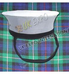 Navy Hat White