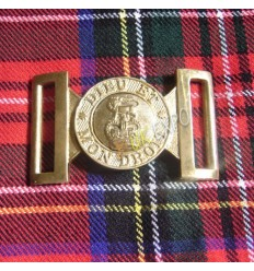 Deiu Et MonDroit Brass Uniform Buckle