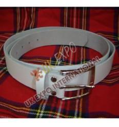 White Waist Belt 2inch Wide