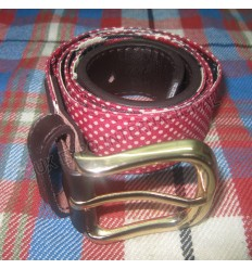 Fashion Web Belt for Casual Pants dressing Magenta and Black color