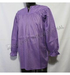 UK Purple Faded Color Ghillie Renaissance Pirate Pioneer Theatre Shirt