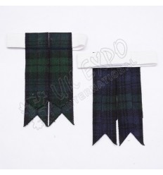 Black Watch Tartan Kilt Hose Flashes