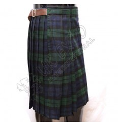 New Black Watch Tartan Front Side Plates Kilt