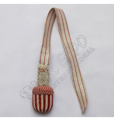 Gold and Maroon Braided Sword Knot
